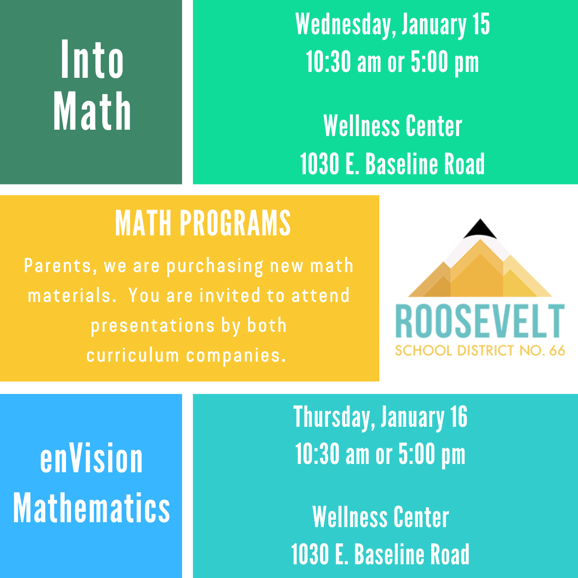 Information on  math curriculum presentations