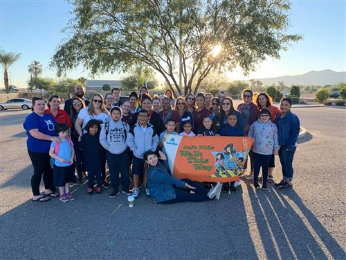 "John F. Kennedy students and staff participated in the City of Phoenix ""Walk Our Children to School"