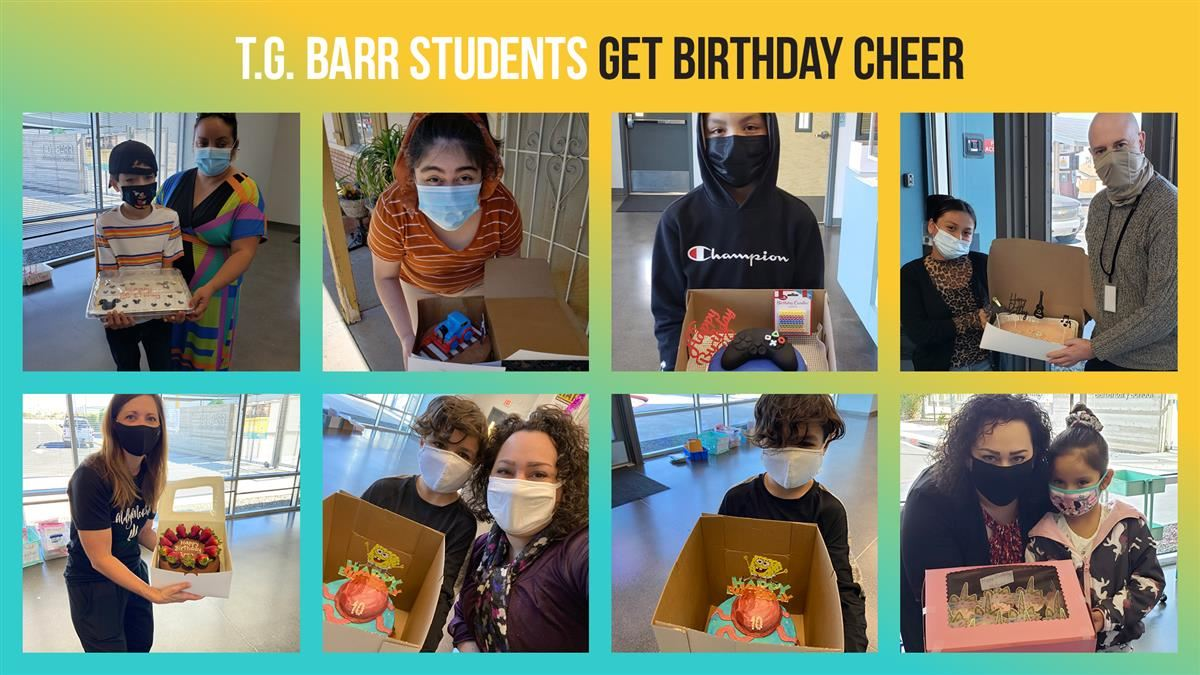 T.G. Barr students get birthday cheer