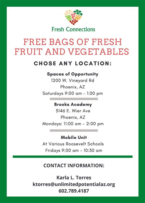 fresh connections free produce bag program information