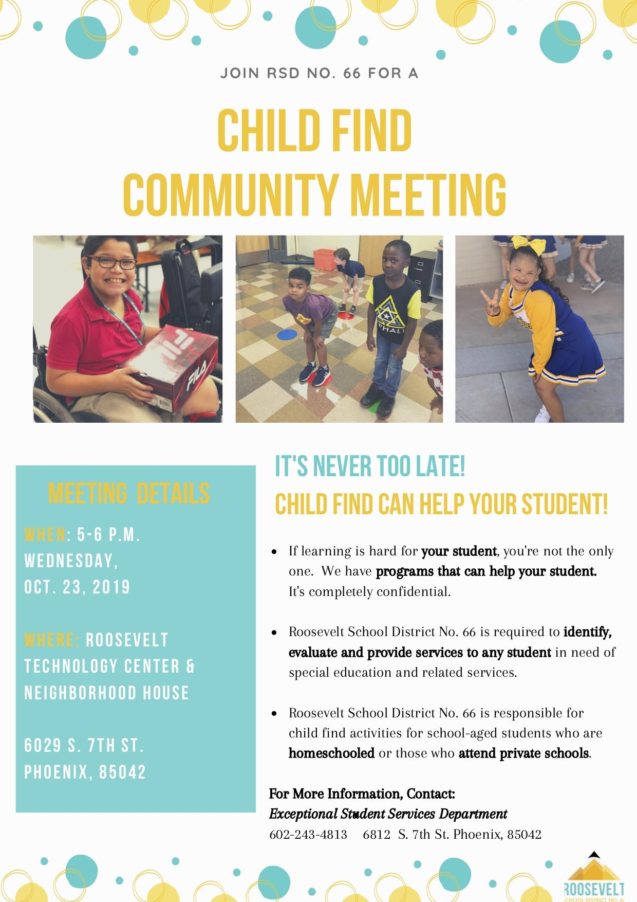 child find community meeting flyer